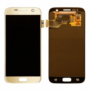 Samsung Galaxy S7 LCD Digitizer Front Ersatzdisplay OEM Gold