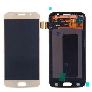 Samsung Galaxy S6 LCD Digitizer Front Ersatzdisplay OEM Gold