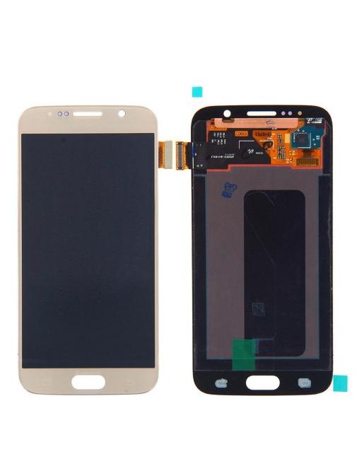 Samsung Galaxy S6 LCD Digitizer Front Ersatzdisplay Gold