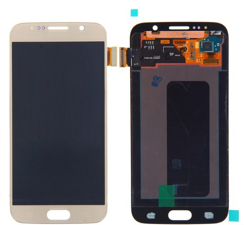Samsung Galaxy S6 LCD Ersatzdisplay OEM Gold