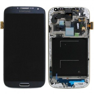 Samsung Galaxy S4 LCD Digitizer Front Replacement Display + Case Black