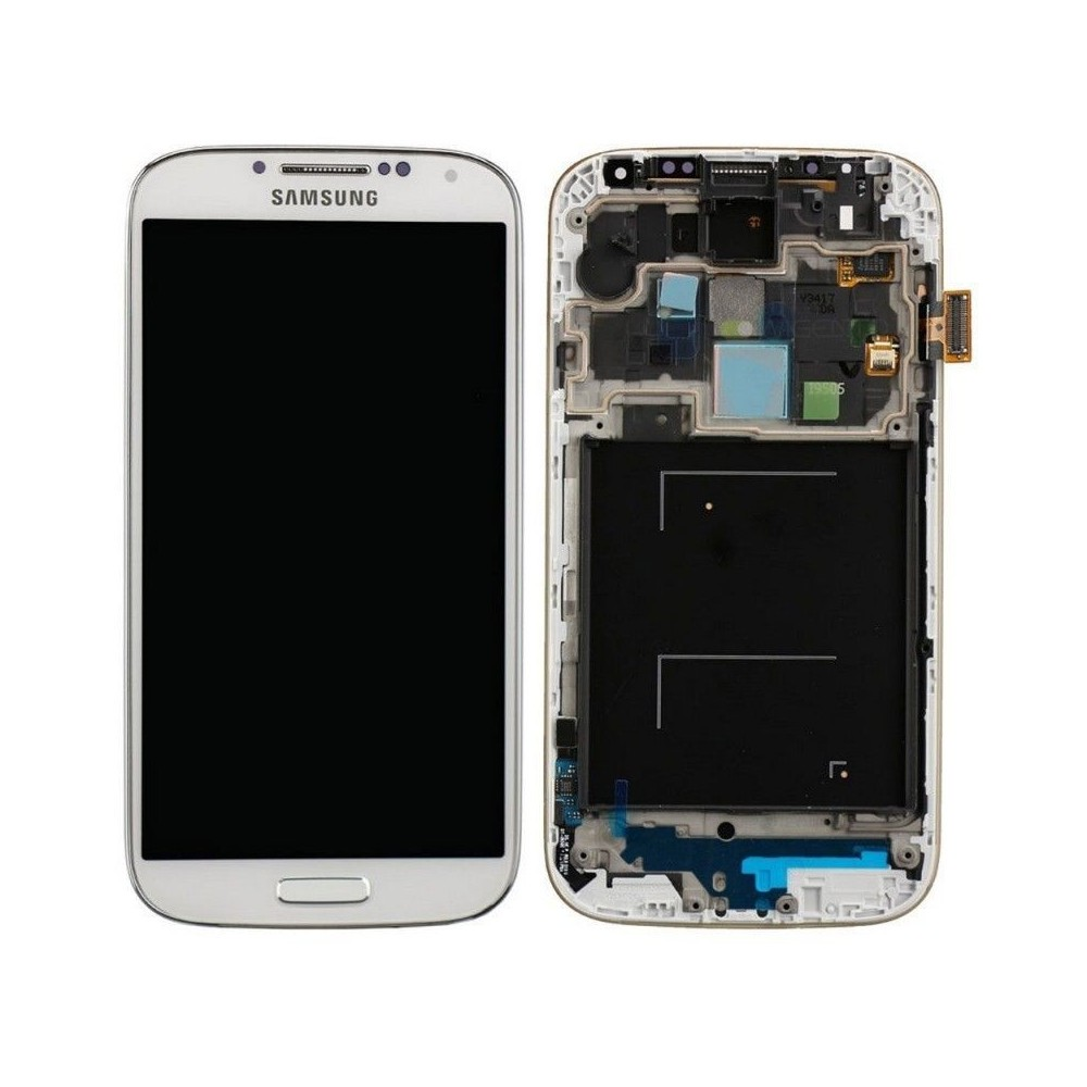 Samsung Galaxy S4 Mini LCD Digitizer Front Ersatzdisplay + Gehäuse Weiss