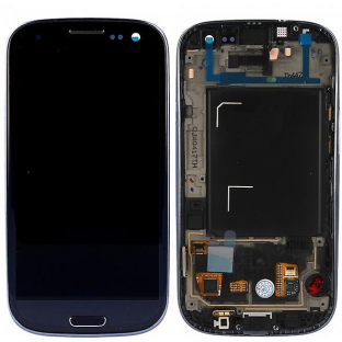 Samsung Galaxy S3 LCD Digitizer Front Replacement Display + Case Black