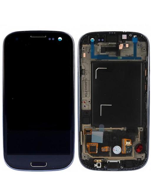 Samsung Galaxy S3 LCD Digitizer Front Ersatzdisplay + Gehäuse Schwarz