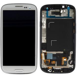 Samsung Galaxy S3 LCDDigitizer FrontErsatzdisplay + Gehäuse OEM Weiss