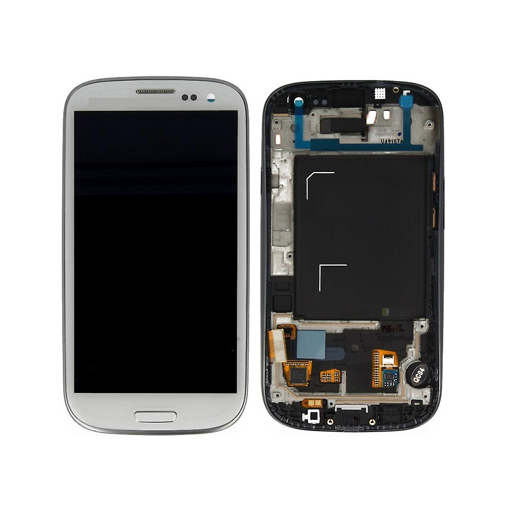Samsung Galaxy S3 LCD Digitizer Front Replacement Display + Case White