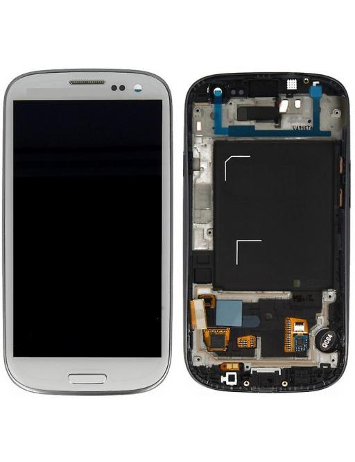 Samsung Galaxy S3 LCD Digitizer Front Ersatzdisplay + Gehäuse Weiss