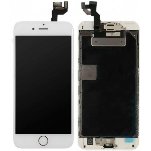 iPhone 6S Plus LCD Digitizer Rahmen Komplettdisplay Weiss Vormontiert (A1634, A1687, A1690, A1699)