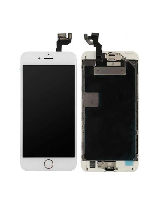 iPhone 6S Plus LCD Digitizer Rahmen Komplettdisplay Weiss Vormontiert