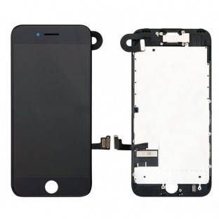 iPhone 7 Plus LCD Digitizer Rahmen Komplettdisplay Schwarz Vormontiert