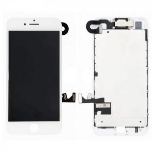 iPhone 7 Plus LCD Digitizer Rahmen Ersatzdisplay OEM Weiss Vormontiert