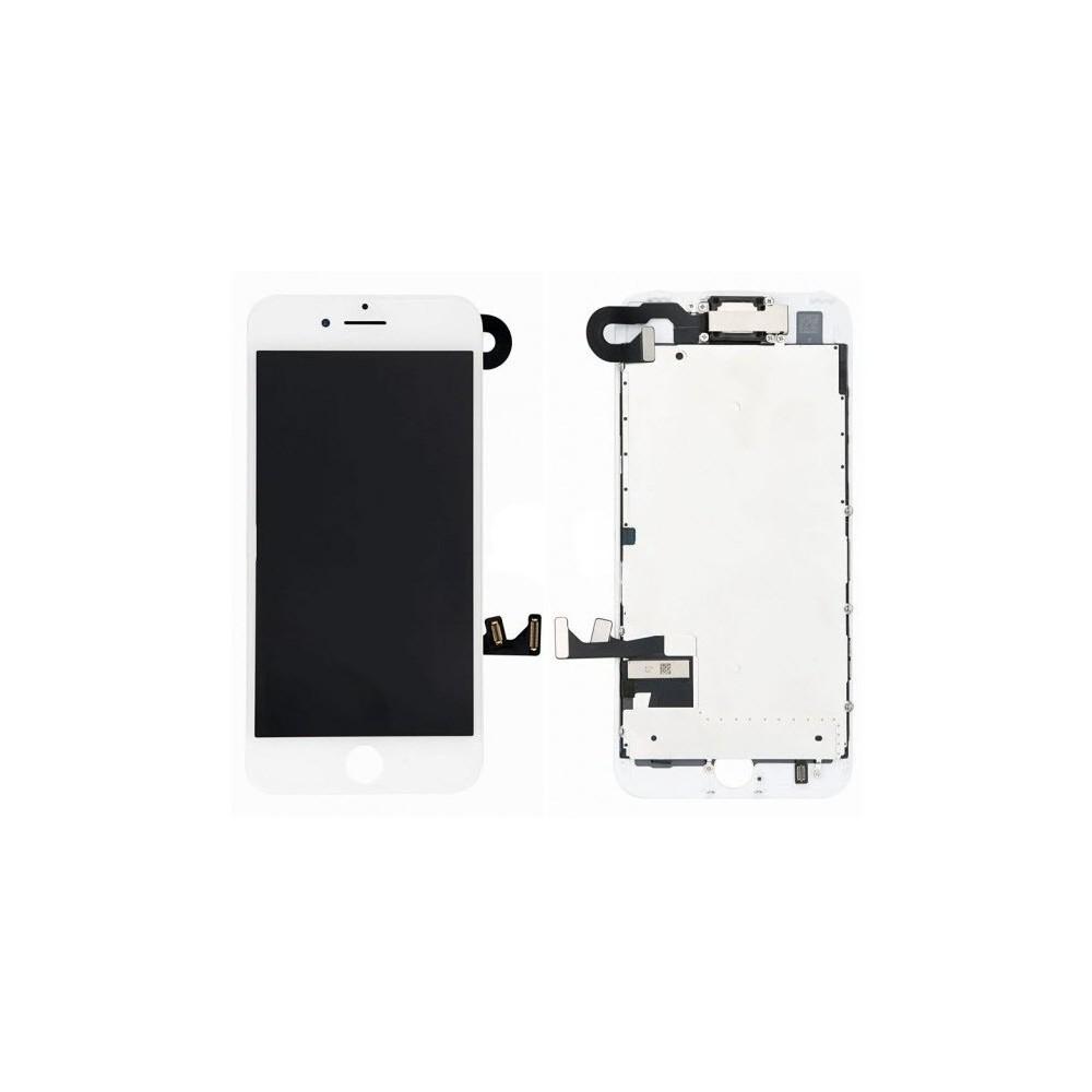 iPhone 7 Plus LCD Digitizer Rahmen Komplettdisplay OEM Weiss Vormontiert