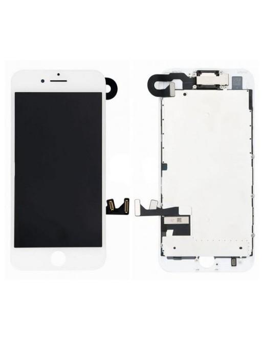 iPhone 7 Plus LCD Digitizer Rahmen Komplettdisplay Weiss Vormontiert
