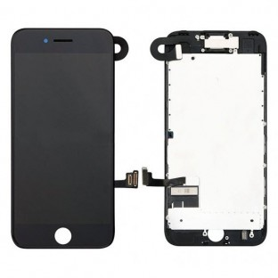 iPhone 7 LCD Digitizer Rahmen Komplettdisplay Schwarz Vormontiert (A1660, A1778, A1779, A1780)