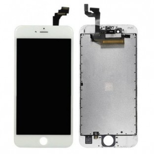 iPhone 6S Plus LCD Digitizer Rahmen Ersatzdisplay Weiss (A1634, A1687, A1690, A1699)