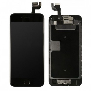 iPhone 6S LCD Digitizer Frame Display completo nero preassemblato (A1633, A1688, A1691, A1700)