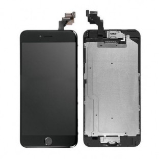 iPhone 6 Plus LCD Digitizer Rahmen Komplettdisplay Schwarz Vormontiert (A1522, A1524, A1593)