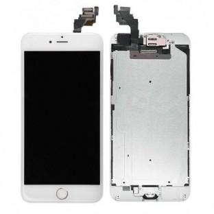 iPhone 6 Plus LCD Digitizer Rahmen Ersatzdisplay OEM Weiss Vormontiert