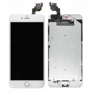 iPhone 6 Plus LCD Digitizer Rahmen Komplettdisplay OEM Weiss Vormontiert