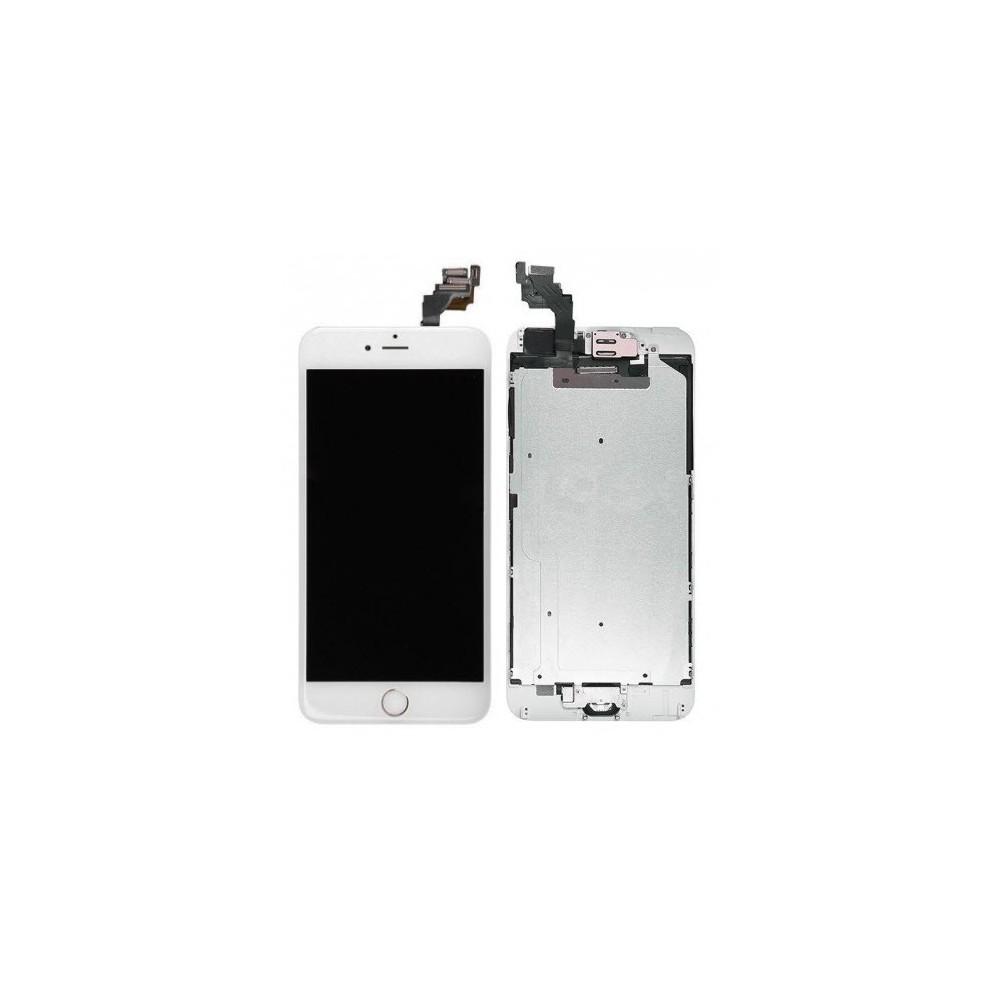 iPhone 6 Plus Digitizer Rahmen LCD Ersatzdisplay OEM Weiss Vormontiert