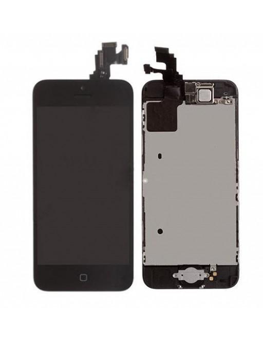iPhone 5C LCD Digitizer Rahmen Komplettdisplay Schwarz Vormontiert