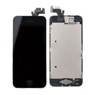 iPhone 5 LCD Digitizer Rahmen Komplettdisplay Schwarz Vormontiert (A1428, A1429)