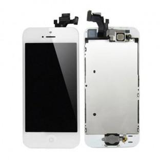 iPhone 5 LCD Digitizer Rahmen Ersatzdisplay Weiss Vormontiert