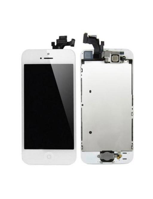 iPhone 5 LCD Digitizer Rahmen Komplettdisplay Weiss Vormontiert