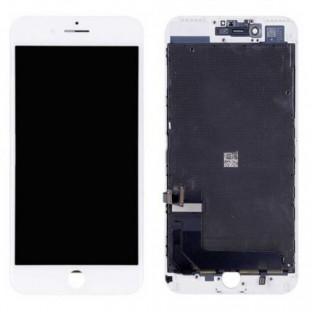 cadre de remplacement du numériseur LCD de l'écran de l'iPhone 8 Plus blanc (A1864, A1897, A1898)