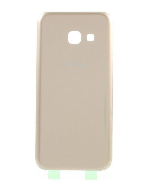 Samsung Galaxy A3 (2017) Backcover Rückschale mit Kleber Gold