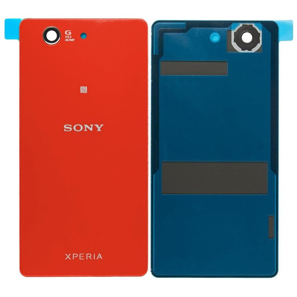 Sony Xperia Z3 Compact Backcover Rückschale mit Kleber Rot