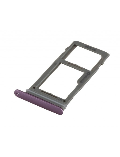 Samsung Galaxy S9 Plus / S9 Sim + Micro SD Tray Karten Schlitten Adapter Lila