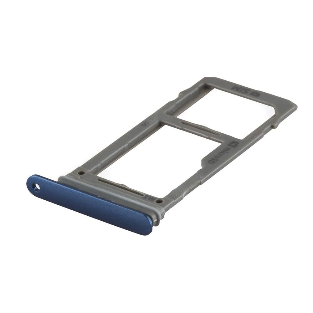 Samsung Galaxy S9 Plus / S9 Sim + Micro SD Tray Karten Schlitten Adapter Blau