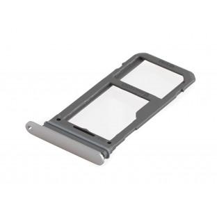 Samsung Galaxy S8 Plus / S8 Sim + Micro SD Tray Karten Schlitten Adapter Grau OEM