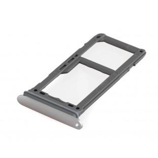 Samsung Galaxy S8 Plus / S8 Sim + Micro SD Tray Karten Schlitten Adapter Grau / Silber