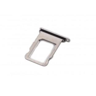 iPhone X Sim Tray Karten Schlitten Adapter Weiss / Silber