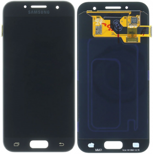 Samsung Galaxy A3 (2017) LCD Digitizer Front Ersatzdisplay Schwarz OEM