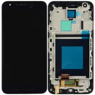 LG Google Nexus 5X LCD Ersatzdisplay + Rahmen Vormontiert Schwarz OEM