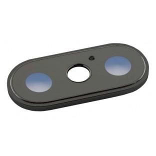iPhone X Dual Kamera Linse für Gehäuse Backcover Schwarz