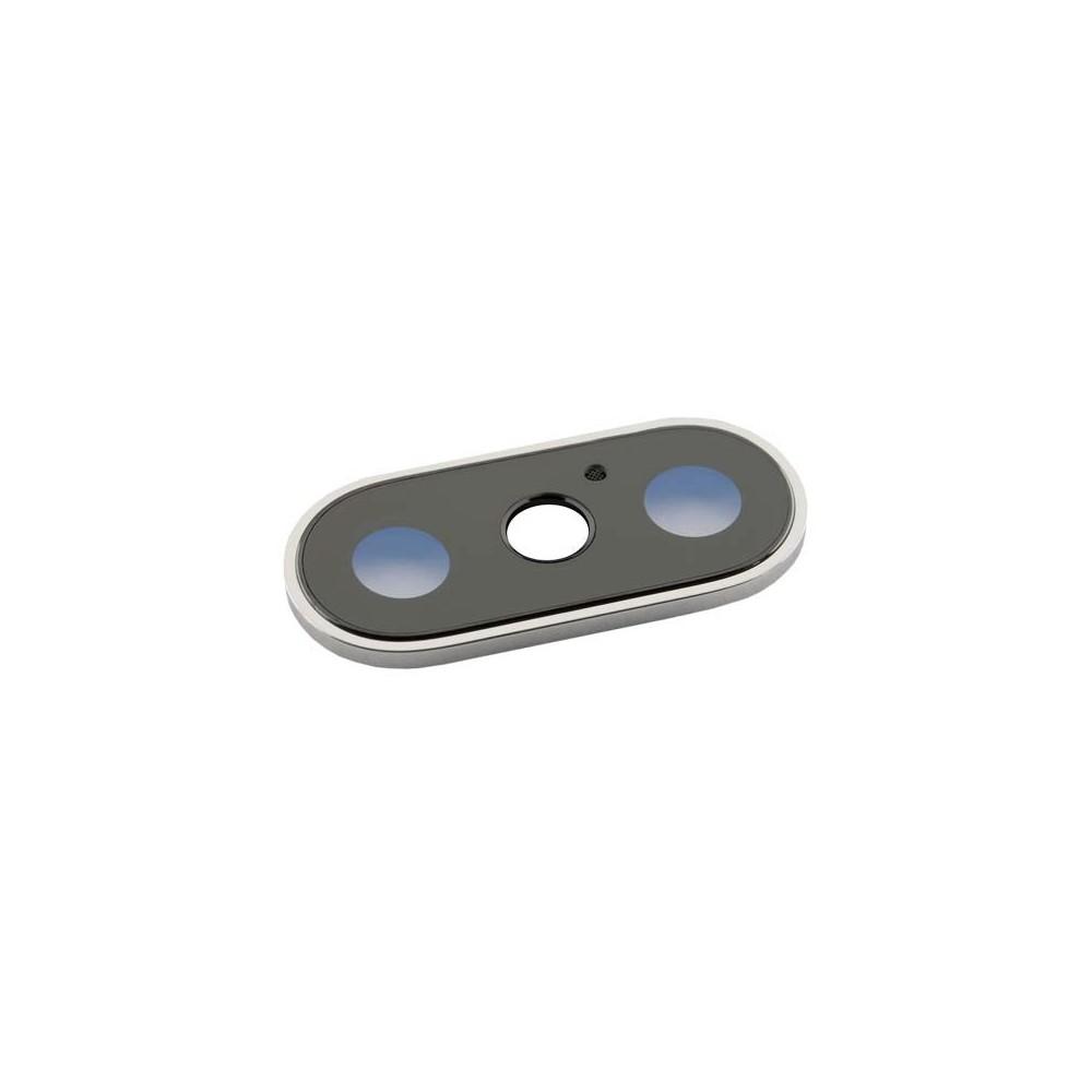 iPhone X Dual Kamera Linse für Gehäuse Backcover Silber