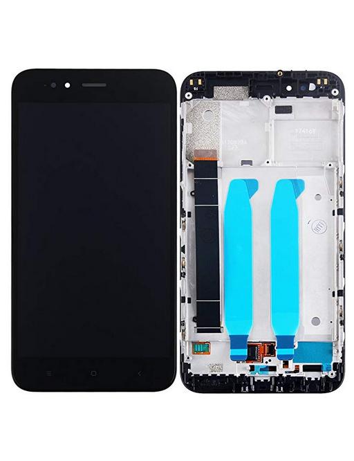 Xiaomi Mi A1 LCD Ersatzdisplay + Rahmen Vormontiert Schwarz