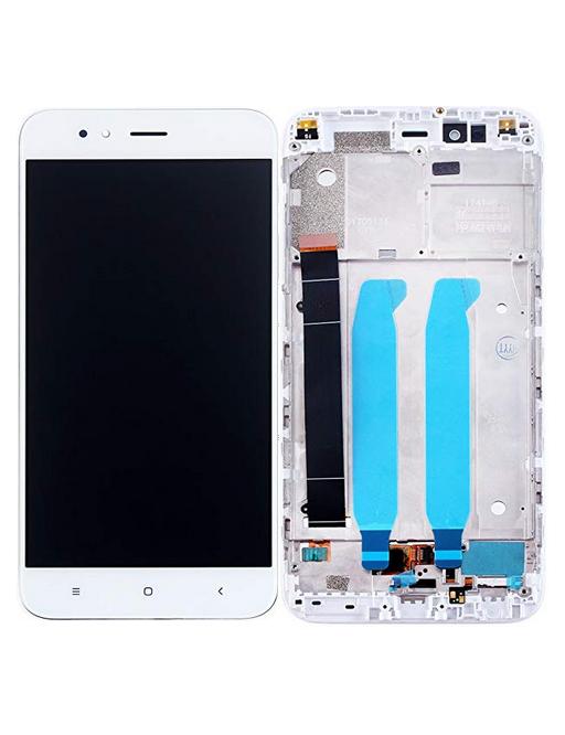 Xiaomi Mi A1 LCD Ersatzdisplay + Rahmen Vormontiert Weiss
