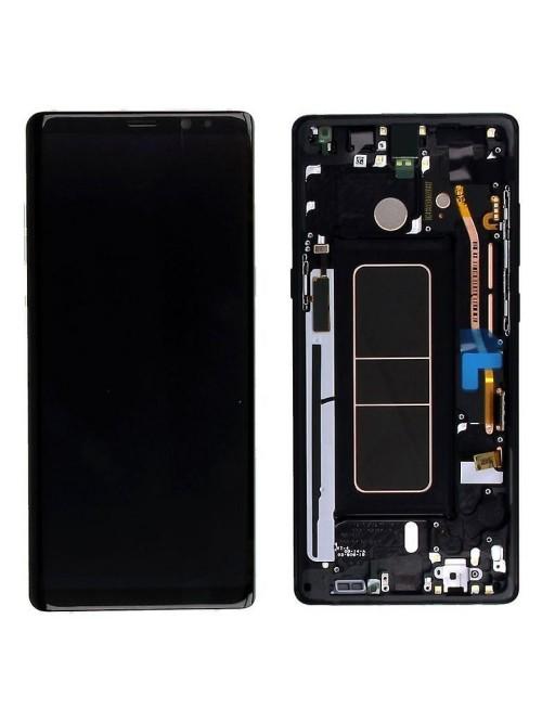 Samsung Galaxy Note 8 LCD Digitizer Ersatzdisplay + Rahmen Vormontiert Schwarz