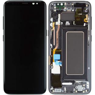 Samsung Galaxy S8 Plus LCD Digitizer Ersatzdisplay + Rahmen Vormontiert Schwarz