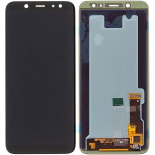 Samsung Galaxy A6 (2018) LCD Digitizer Front Ersatzdisplay Schwarz OEM