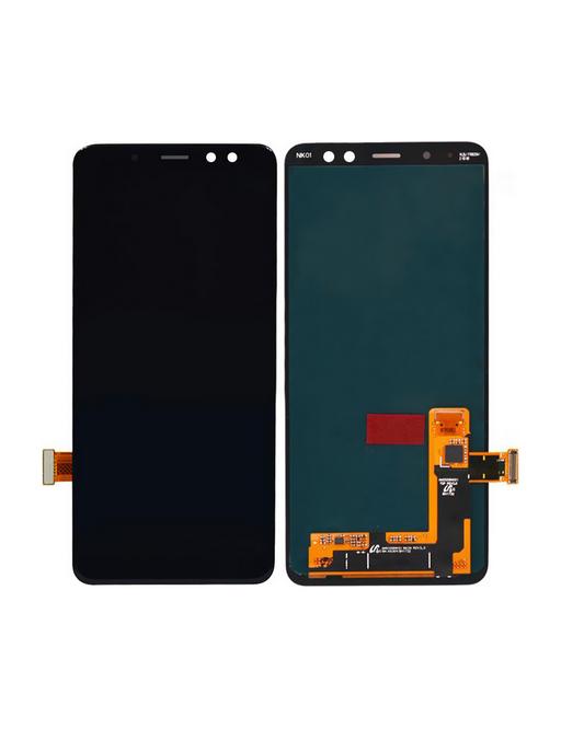 Samsung Galaxy A8 Plus (2018) LCD Digitizer Front Ersatzdisplay Schwarz