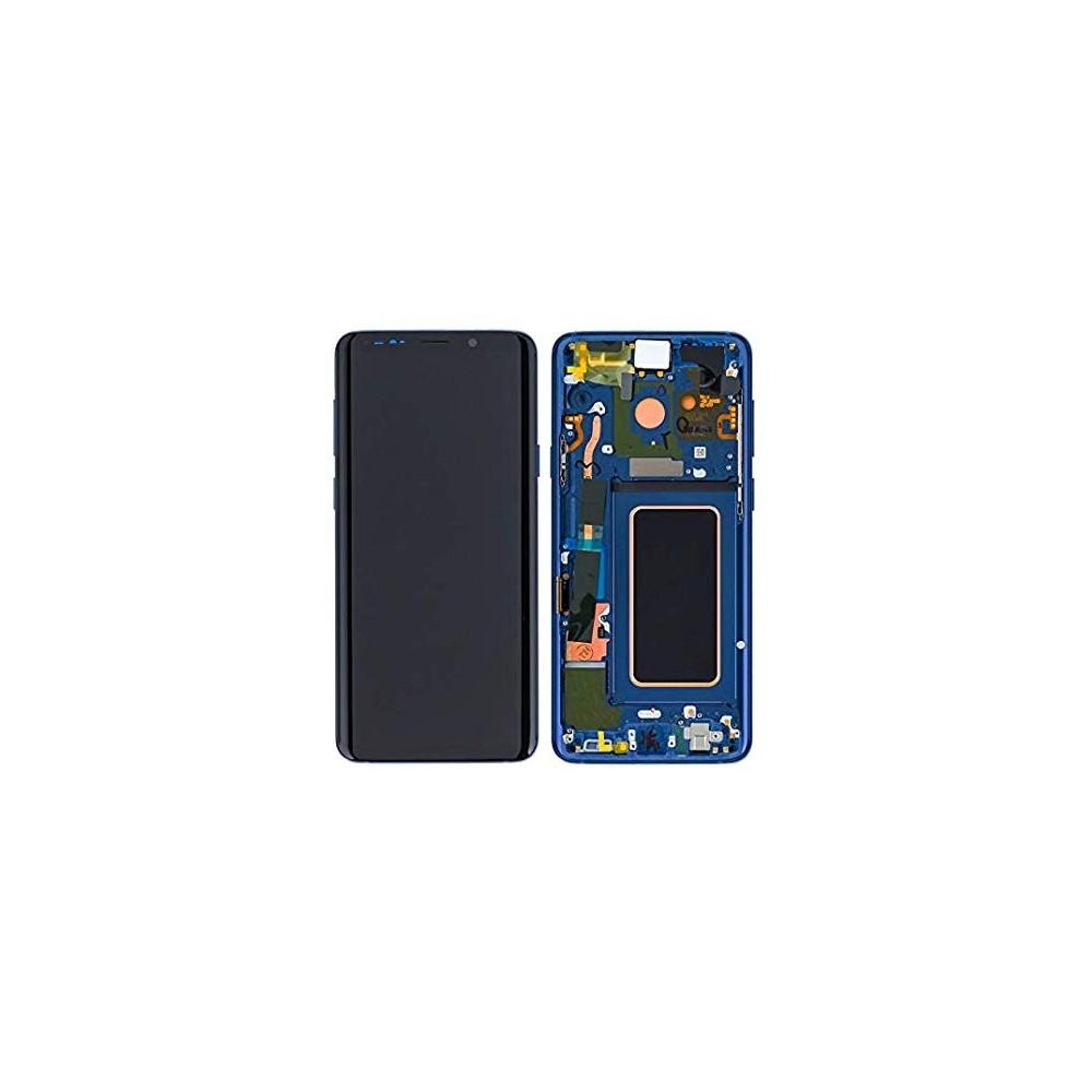 Samsung Galaxy S9 LCD Digitizer Ersatzdisplay + Rahmen Vormontiert Blau