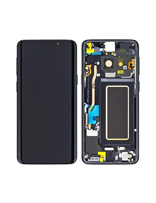 Samsung Galaxy S9 Plus LCD Digitizer Ersatzdisplay + Rahmen Vormontiert Schwarz