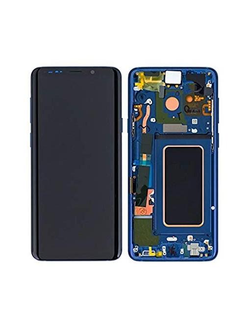 Samsung Galaxy S9 Plus LCD Digitizer Ersatzdisplay + Rahmen Vormontiert Blau