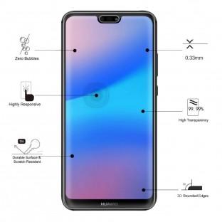 Eiger Huawei P20 Lite Vollbild 3D Panzer Glas Display Schutzfolie (EGSP00202)